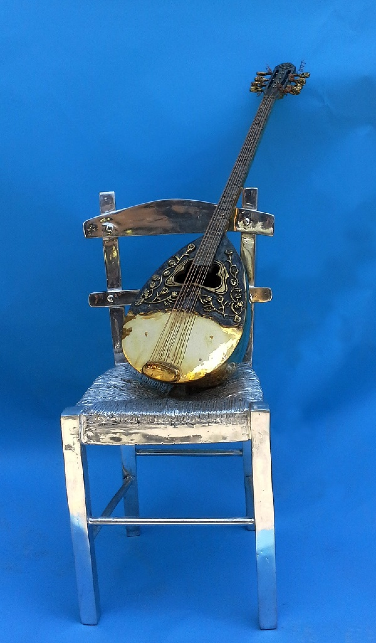 Greek Bouzouki On Chair